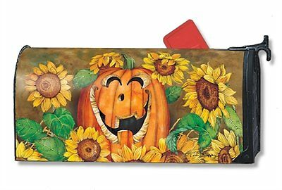 Magnet Works Mailwraps Sunflower Jack Pumpkin Magnetic Mailbox Wrap Cover