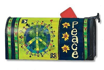 Magnet Works Enter in Peace Original Magnetic Mailbox Wrap Cover