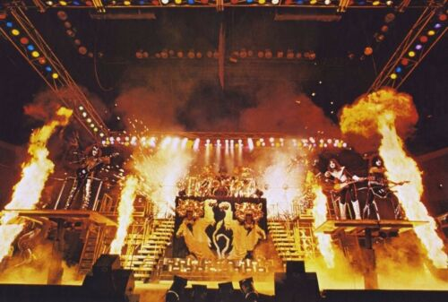 KISS Band 24 x 36 Alive II Full Stage Shot Reproduction Poster - Rock Music Gift