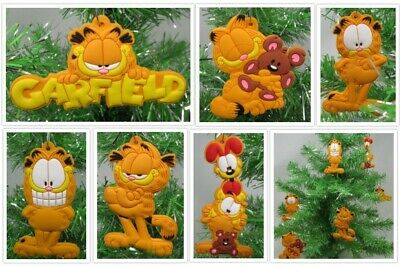 Cartoon Icon GARFIELD 6 Piece Christmas Ornament Set w Odie and Pooky NEW Unique Garfield Christmas Ornament