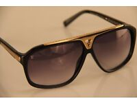 PAYPAL ACCEPTED LOUIS VUITTON BLACK EVIDENCE SUNGLASSES BRAND NEW WITH LV CASE/CLOTH.
