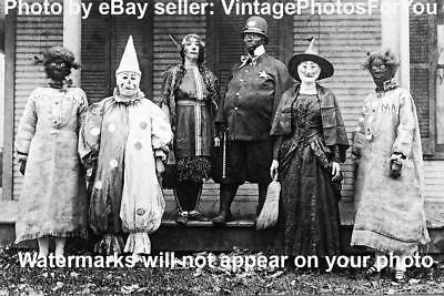Creepy Halloween Costumes Old (Old/Vintage Early 1900s Weird/Creepy/Scary Halloween Clown/Witch Costumes)