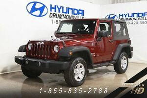 Jeep Wrangler 2012 + SPORT + MANUELLE + 4X4 + CRUISE + HITCH + S