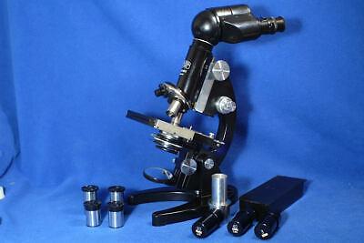 Zeiss Binocular Microscope Mint In Cabinet