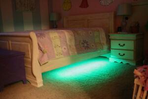 kids color changing under bed led lights bedroom bed mood