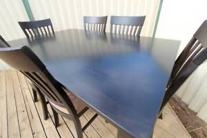 ~ RRP $1,300 ~ Dining Table Chairs 7 Piece Padded Seats ~ Elegant St Kilda East Glen Eira Area Preview