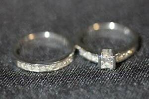~JEWELLERY~ 18ct White Gold 1.50ct Diamond Bridal Set Engagement Ring St Kilda East Glen Eira Area Preview