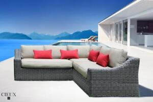 Cieux Marseille Spectrum Mushroom Corner Sectional Sofa! Outdoor Patio Furniture Clearance in Canada!