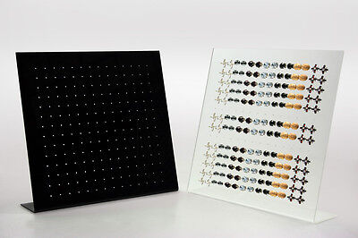 6 Clear6 Black Acrylic Studs Earring Jewelry Display Stand 1176 Pair Wholesales