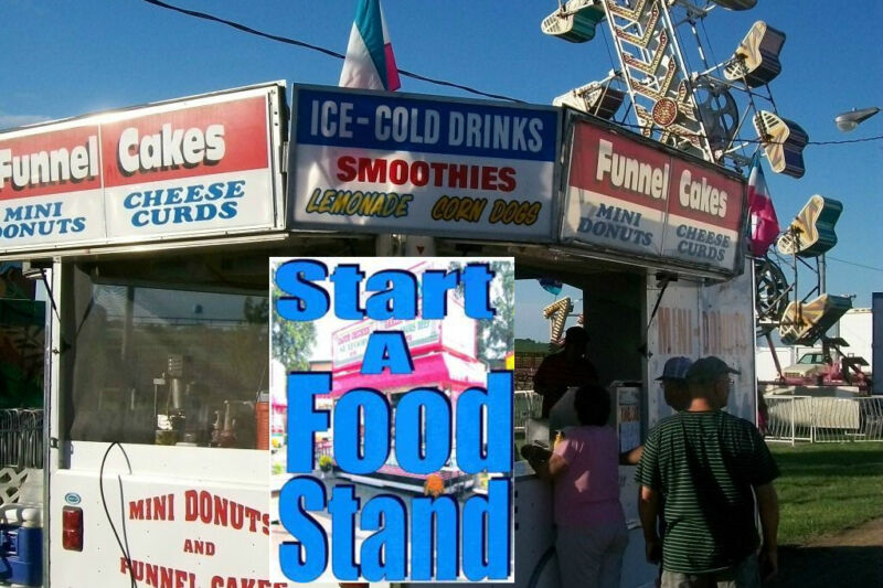 Make Money Sell Food Concession Trailer Home Business