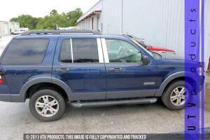 GTG 2002 - 2010 Ford Explorer 4dr W Keyless 6PC Chrome Stainless Steel Pillars