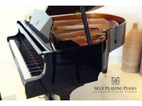 SELF PLAYING BRAND NEW BLACK STEINHOVEN SG148 BABY GRAND PIANO
