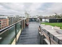 HUGE 3 BED REGENTS CANAL FACING 2 BATH WITH PRIVATE ROOF TERRACE