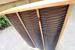 ~ RRP $60 ~ Wooden CD Rack ~ Display Case ~ 3 Columns 120 Cases ~ St Kilda East Glen Eira Area Preview