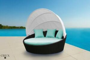 Patio Furniture Clearance in Canada! Cieux Outdoor Wicker Daybed with Premium Sunbrella Fabric