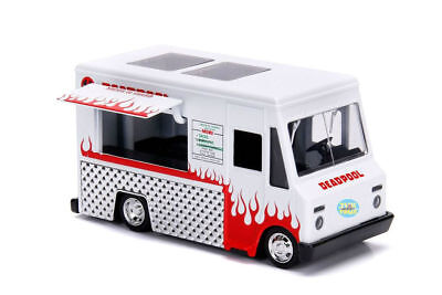 Marvel Deadpool Taco Truck White Metals 1/32 Scale Diecast Model By Jada 99800