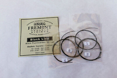 Fremont Fluorocarbon Blackline Ukulele Strings Soprano Concert Medium Set