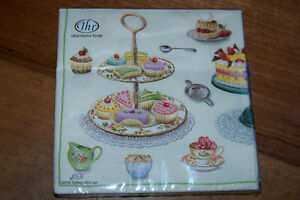 Tea-Party-Cup-Cakes-20-Paper-Napkins-Serviettes-Royal-Albert-Cup-And-Saucer