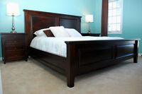 Solid Mahogany King Bed, Queen Bed, Sleigh bed