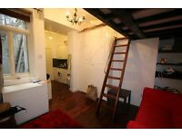 IN THE HEART OF CAMDEN TOWN FABULOUS STUDIO FLAT WITH DOUBLE MEZZANINE BED, 3 MINS TUBE & SHOPS