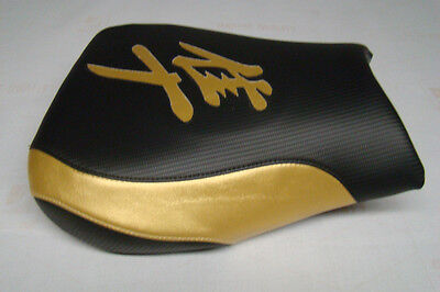 Hayabusa 1999/00/01/02/03/04/05/06/2007 Gsxr1300 Front Seat Cover Black/gold