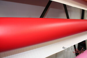 Red-MATT-Vehicle-Wrap-Vinyl-3m-x-1-5m-Air-BUBBLE-Free