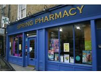 PHARMACY TECHNICIAN/DISPENSARY ASSISTANT POSITION-Hoxton (Shoreditch) London N1 Full Time (40 hours)