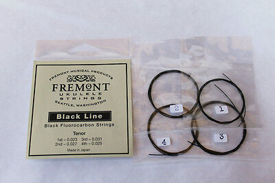 Fremont Fluorocarbon Blackline Ukulele Strings Tenor Set
