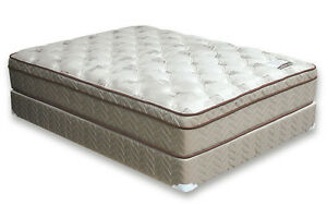 LUXURY QUEEN SIZE PILLOW TOP MAT/BOX  NO TAX FREE DELIVERY 10 YR Kitchener / Waterloo Kitchener Area image 2