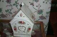 Large Old Country Rose Royal Albert Cookie Jar Bird House