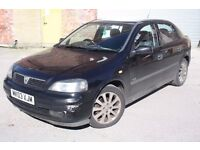 2003 VAUXHALL ASTRA 1.6 16V SXI, MANUAL, PETROL, 5 DOORS, SPARES OR REPAIRS, STARTS AND DRIVES !!