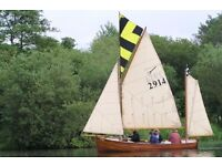 "1920's Gaff rigged 18"" Quarter Decked"