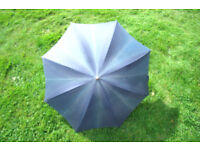 Vintage St Michael (Marks & Spencer/M&S) ladies' dark green umbrella. Faux amber handle. £5 ovno.