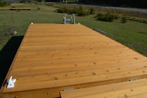 8 x 16 cedar floating dock with a 4 x 16 ramp and 9 dock floats Kingston Kingston Area image 5