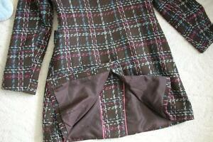 Women's Brown Pink Blue White Plaid Dress Coat Jacket!! Windsor Region Ontario image 2