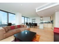 LUXURY LARGE 1 BED - NO.1 WEST INDIA QUAY E14 - STEPS AWAY FROM DLR - CANARY WHARF DOCKLANDS CITY
