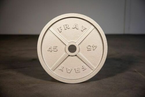 Fray Fitness 45lb Pound Pairs Olympic Barbell Weight Plates Cast Iron HOME GYM