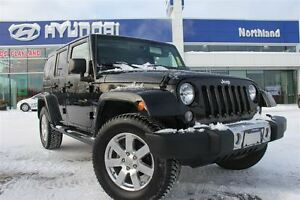 2014 Jeep Wrangler Unlimited Sahara/Leather/Led Display/4X4/HTD