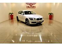 BMW 1 SERIES 1.6 114D SPORT 5d 94 BHP + 0% DEPOSIT Finance Available (white) 2013