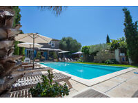 South France house, private terrace,BBQ,sandy beaches 4 km,in a mediterranean property swimming pool