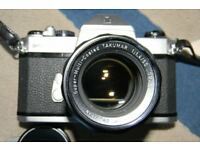 Asahi Pentax Spotmatic F camera with F1.4 lens