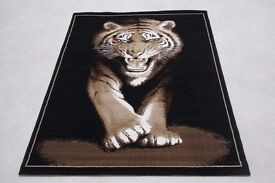 Quality Large Animal Print Rugs 120cm x 170cm Tigers, Lions, Leopard, Elephants, More Designs