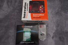 RETRO XMAS DREAMCAST NEW BOXED 6 BUTTON CONTROLLER TURBO SLO MO + VMU + RUMBLE PACK