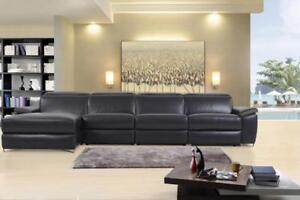 FREE Delivery in Vancouver! Aura Leather Power Reclining Large Sectional with Left Facing Chaise!