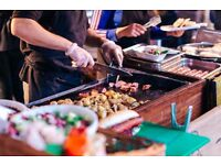 Complete street food market stall to sell (gazebo, griddle, bain marie, soup kettle etc)