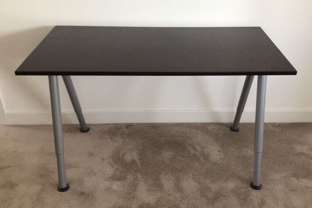 Ikea Galant Black Brown Desk Hardly Used