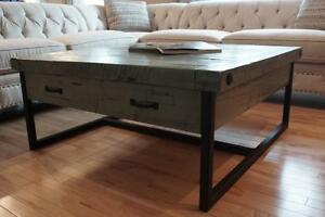 Reclaimed Wood & Iron Coffee Table with Drawers ($1265) & more By LIKEN Woodworks!