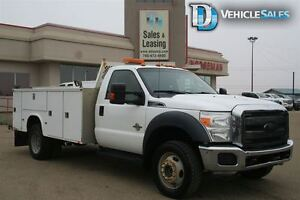 2011 Ford F-550 CHASSIS CAB XLT, 4X4, DIESEL, TOOL BOX, TOOL TRA