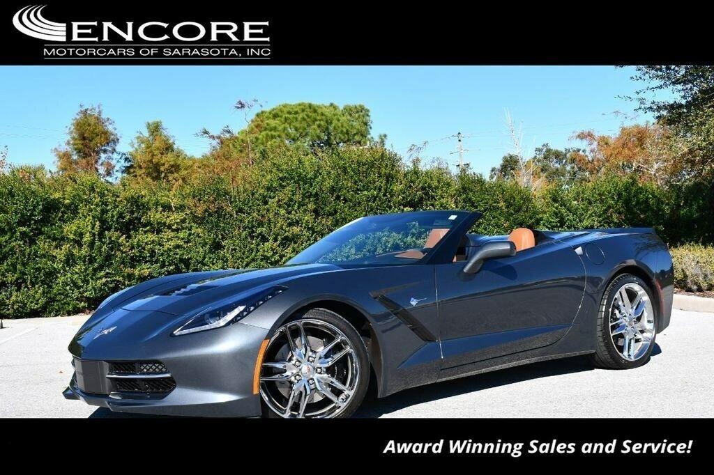 2014 Gray Chevrolet Corvette Convertible 3LT | C7 Corvette Photo 1