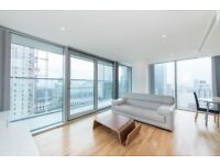 Luxury 2 Bed 2 Bath Apartment in Landmark Tower, E14, Canary Wharf, Gym, Concierge, Balcony